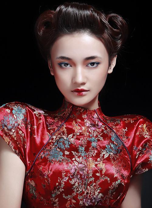 发型设计 黑光网图库旗袍发型 > 来自东方的美 张梓琳_化妆造型  来自