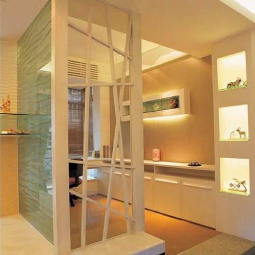 亚太室内设计; 龙亭小区书房设计; 亚太室内设计现代书房实景图暖色隔