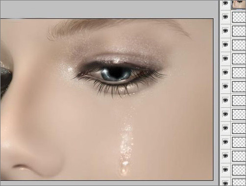 ps鼠绘之:流泪的眼睛