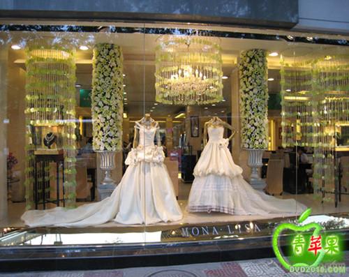 橱窗设计--婚纱展示效果图
