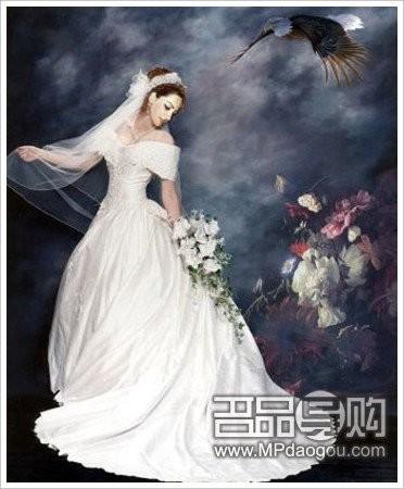 手绘油画婚纱照