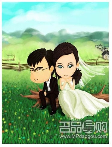 韩式手绘风格的婚纱照里,你就是那个清新脱俗的女一号,再次唤起他的保