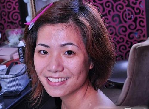 短发妹的新娘妆_妆面赏析_影楼化妆_黑光网图片