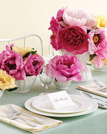 花朵 餐桌