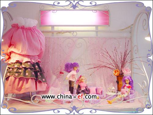 娃娃橱窗设计效果图