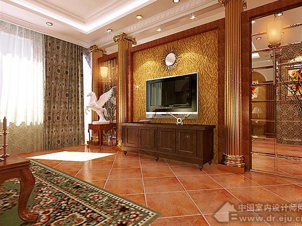 装修设计--欧式古典浪漫风格大厅(2)