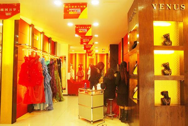 影楼装修设计--婚纱礼服展示区