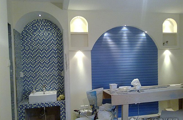 背景墙装修设计吹来地中海的风