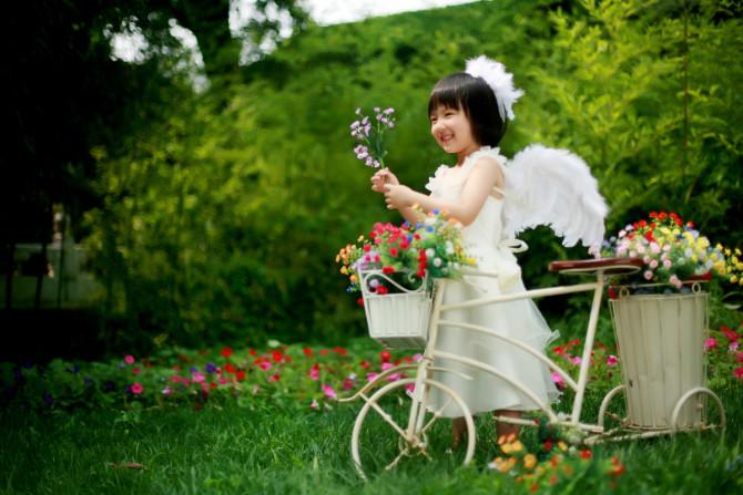 紫竹院外景儿童摄影
