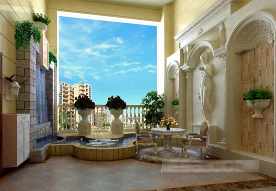 欧式风格--豪华室内装修效果图 (2)
