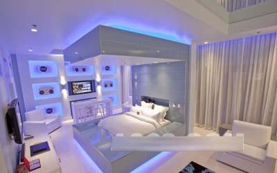 迈阿密蓝色套房硬石室内设计欣赏