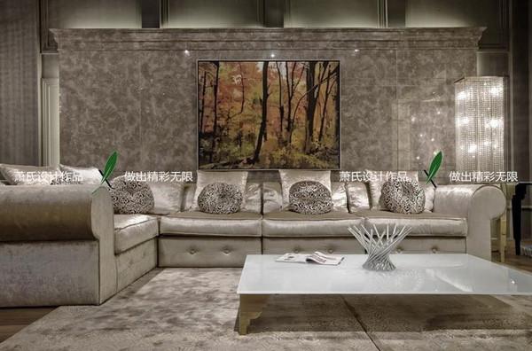 银白色空间设计装修效果图欣赏