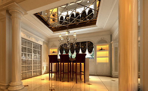 欧式现代餐厅别墅2; 香格里拉庄园;; :室内设计&图片
