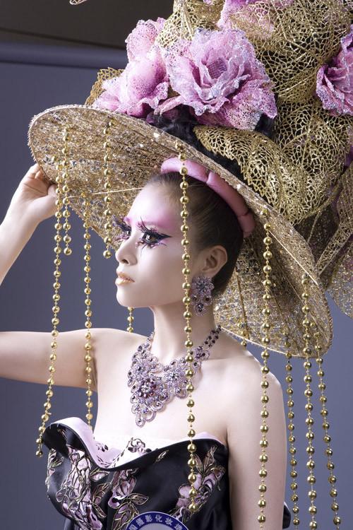 创意新娘妆面图片 创意中国风妆面造型 创意中国风妆面造型