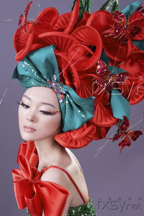 中国风创意妆面彩绘图