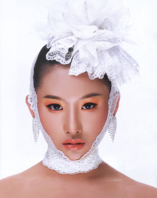 并用它来制作头顶花饰; 化妆师培训-丝巾与彩妆;;   蕾丝新娘