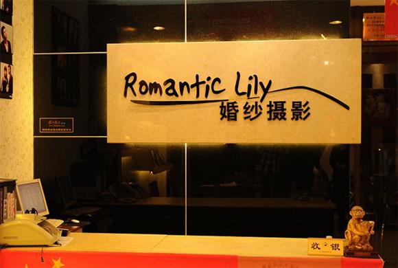 安阳浪漫百合婚纱摄影店面设计图片