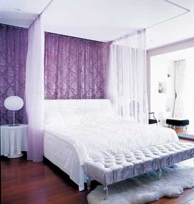 欧式沙发皮的图片淡紫色