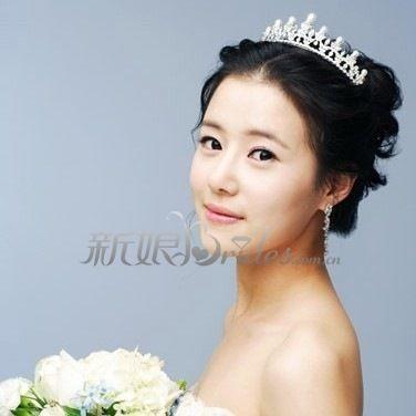 韩国新娘发型(2)_妆面赏析