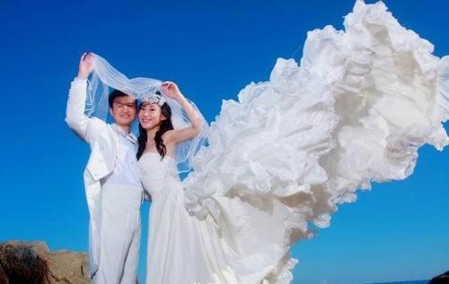 地中海异域风情建筑的婚纱摄影基地.