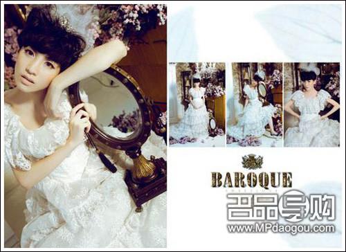 唯美艺术实景婚纱照 巴洛克风格