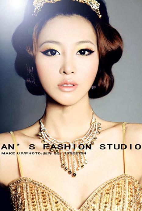 晚礼妆容化妆造型_发型设计