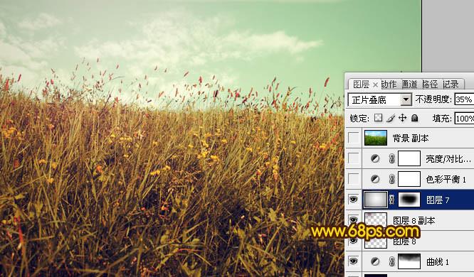 ps调出风景照片的淡雅黄绿色调