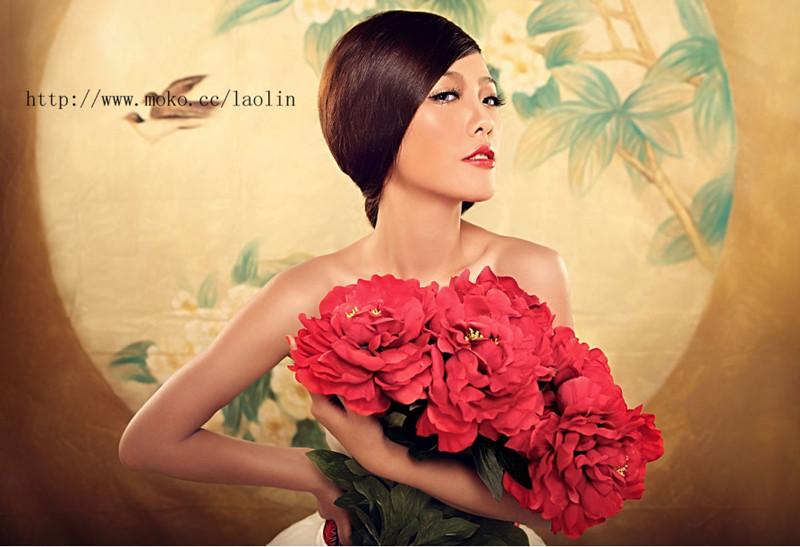 新娘的中国风化妆造型图片