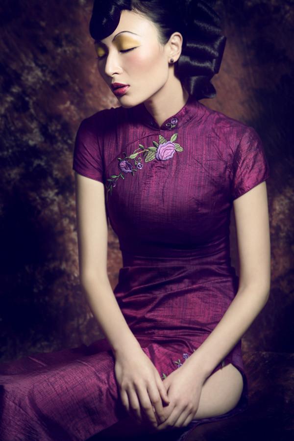中国旗袍(全)_写真摄影_黑光图库_黑光网