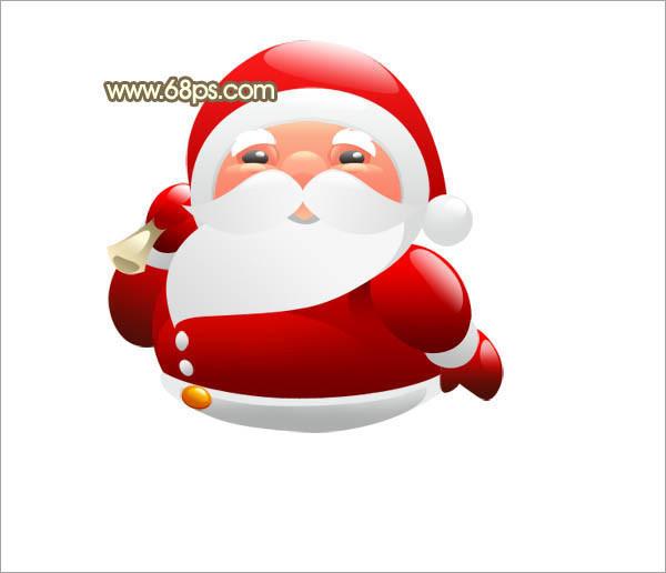 photoshop制作可爱的红色卡通圣诞老人(9)