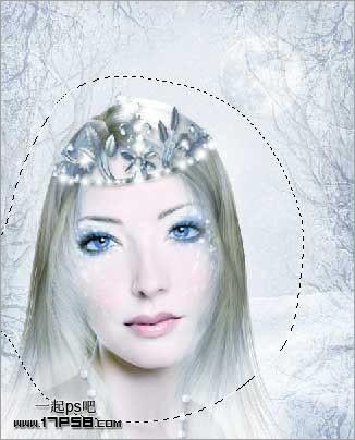 蓝色仿手绘美女(11)