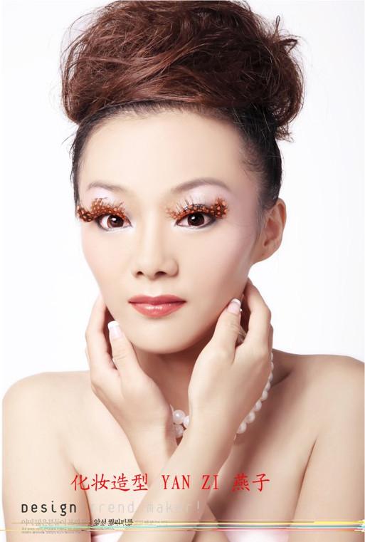 > 简单创意妆面整体造型_简单创意手工纸造型   创意妆面整体造型图片