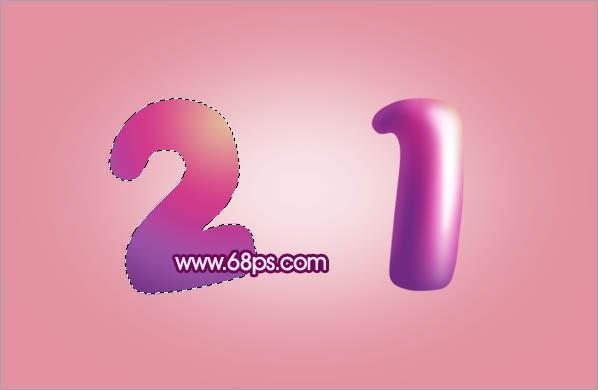 photoshop制作非常可爱的紫色卡通糖果字(7)