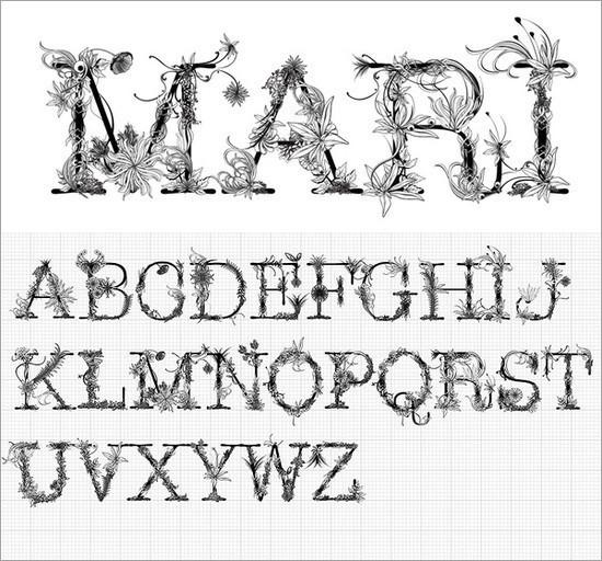 漂亮的黑白文字设计(6)