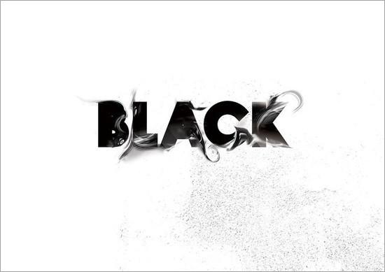 漂亮的黑白文字设计(12)