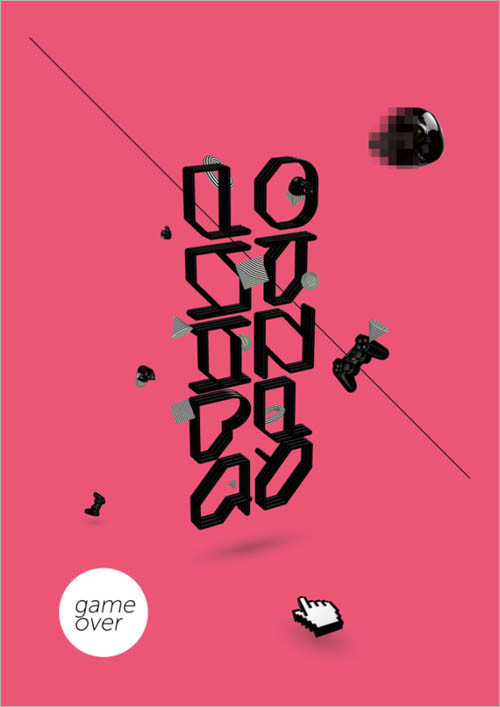 25张国外漂亮的文字海报设计