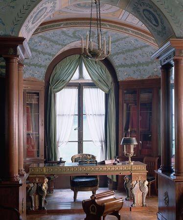完美实景:三味书屋之欧式华贵大气书房