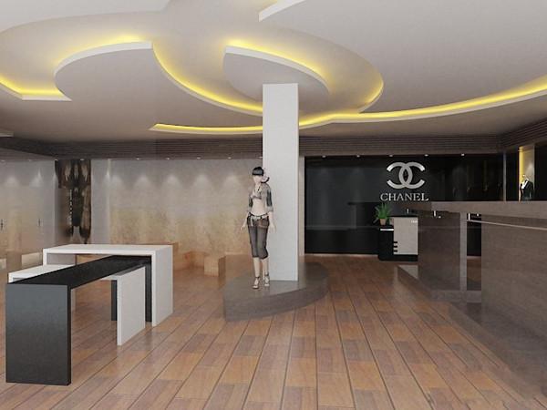 香奈儿店铺装修3d设计效果图