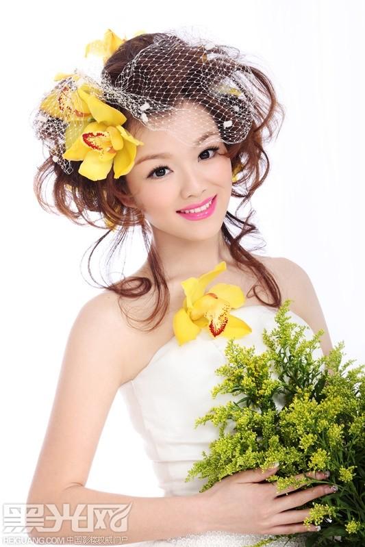 新娘鲜花造型化妆造型