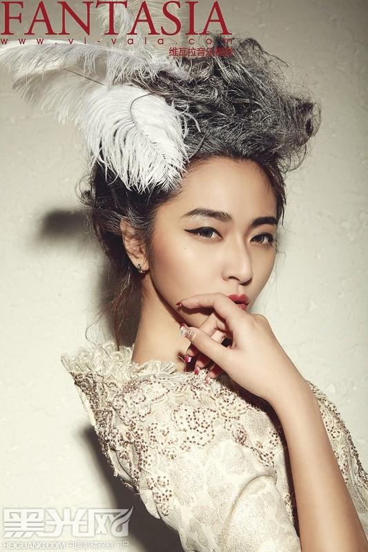 欧式新娘的复古高贵化妆造型图片