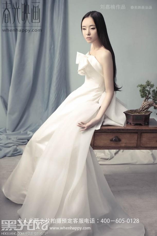 白纱新娘 唯美画意图片