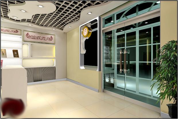 暖色调装修设计 儿童影楼3d效果图(2)_装修·橱窗