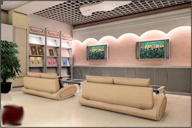 暖色调装修设计 儿童影楼3D效果图高清图片