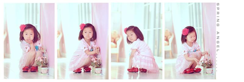 带花的女孩儿儿童摄影