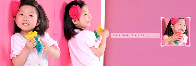 带花的女孩儿 儿童摄影