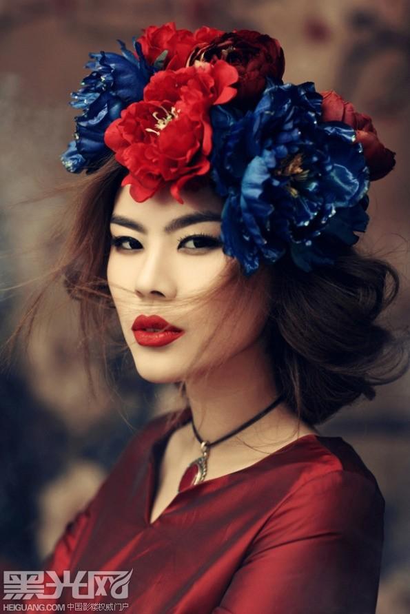 中国风《藏花图》化妆造型图片