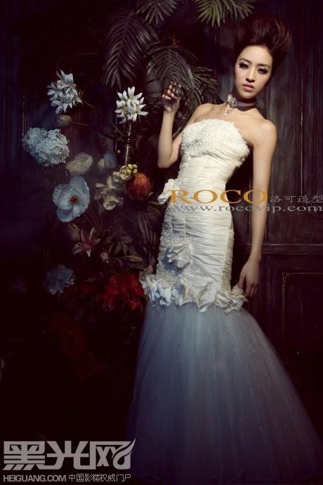 欧陆白纱 气质新娘图片