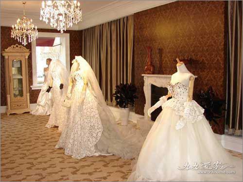 爱情城堡 婚纱影楼装修的摩登简欧混搭 影楼装修 橱窗设计 橱窗设计