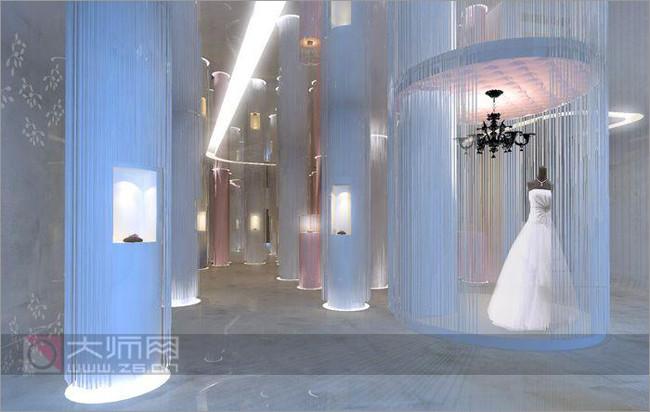 惊艳梦幻殿堂 婚纱珠宝陈列大赏 影楼装修 橱窗设计 橱窗设计展示