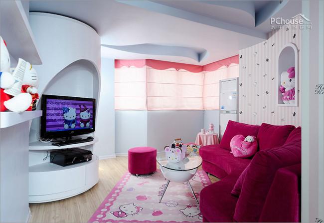 各种可爱粉嫩满屋 影楼装修 橱窗设计 橱窗设计展示
